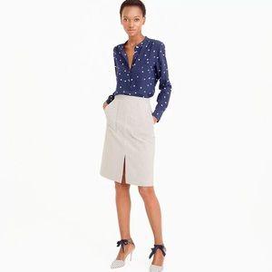 J. Crew A-Line Skirt with Pockets in Skinny Stripe